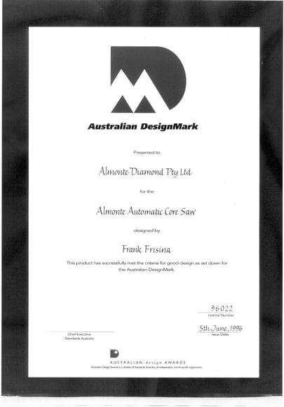 Frank Frisina's Australian Design Award for the Almonte Core Saw