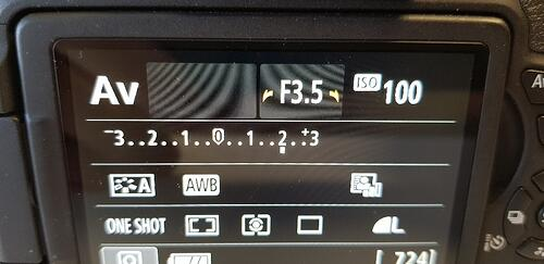 Canon EOS Digital SLR Camera Aperture set to F3.5