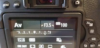 Canon EOS Digital SLR Camera AV settings