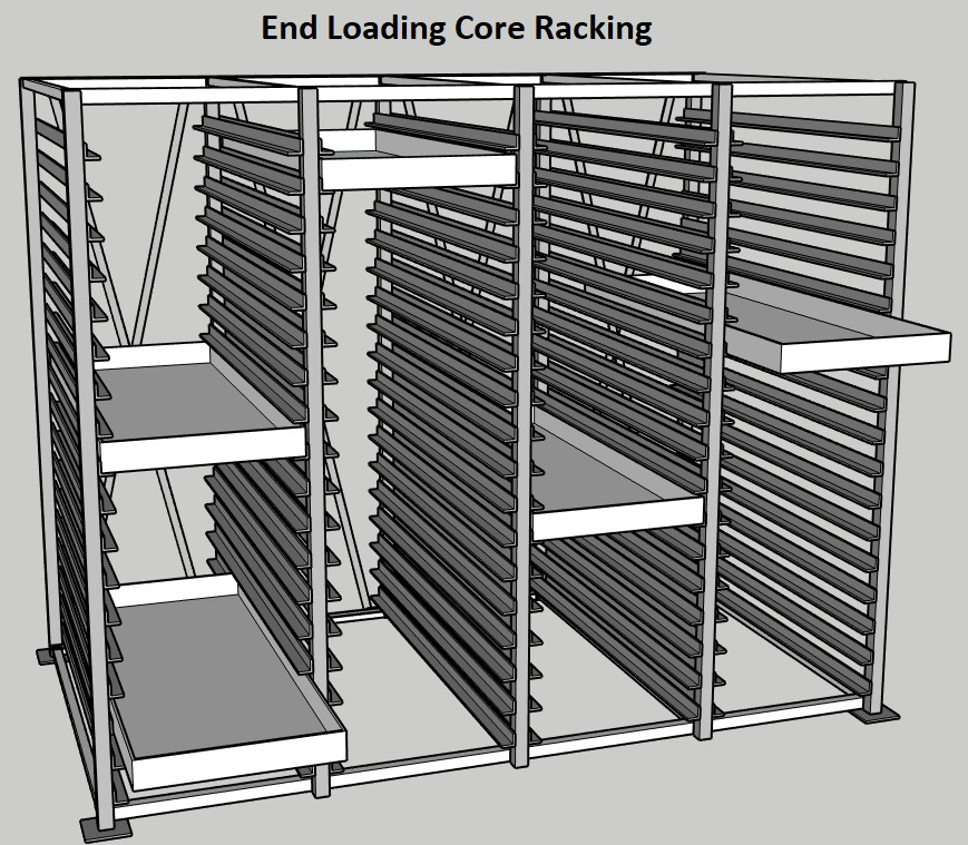 Discoverer® Core Tray Storage Racking System End Loading