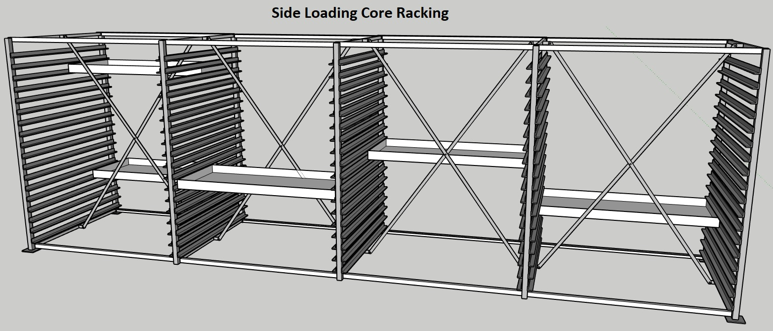 Discoverer® Core Tray Storage Racking System Side Loading